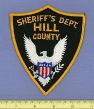 HILL COUNTY (~Old Vintage) SHERIFF'S DEPT TEXAS Patch