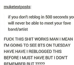 Sorry about the cuss words but I NEED THIS big chance of meeting them next week