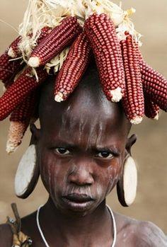 Africa ~ Mursi Girl ~ Omo Valley, Ethiopia ©Richard Notebaart