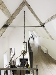 http://brookegiannetti.  Douglas Fir beams tend to go silvery gray as they age