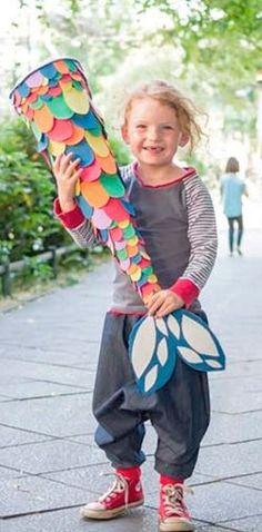 DIY-Anleitung: Farbenfrohe Meerjungfrauen-Schultüte basteln / crafting idea for the fist day of school: mermaid sugar cone via DaWanda.com