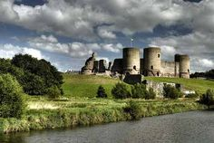 Rhuddlan Castle, North Wales  Begun in 1277, this was the second of King Edward I's great Welsh fortifications. A protected river dock forms one side of the defences of this concentrically planned castle, dominated by a distinctive diamond-shaped inner ward.
