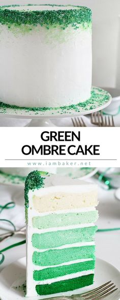 This cake is perfect for St. Patrick's Day celebrations. I don't' know what it is about St. Patrick's Day that makes me want to consume massive amounts of colorful sweets and booze!