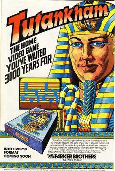 Tutankham game for the Intellivision Retro Gaming Ad #ads #retrogaming #oldschool