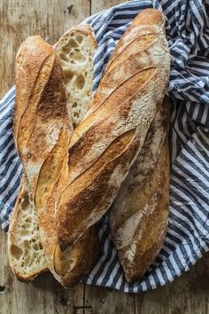 Easy Sourdough Baguette Recipe - Home Grown Happiness Sourdough Baguette Recipe, Recipe Using Sourdough Starter, French Baguette Recipe, Sourdough Bread Starter, Sourdough Recipes, Bread Recipes, Vegan Recipes, Savoury Baking, Bread Baking