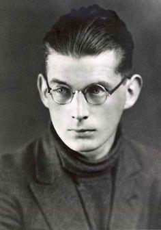 El artista cachorro.- ¿Este es un niño disfrazado de Samuel Beckett para Halloween? No, es el mismo Beckett a los quince años.