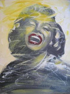 Marilyn Monroe Art work red lips