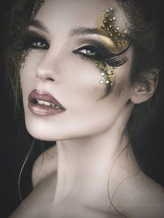 50 Make Up Beautiful Makeup # Halloween Face Makeup . - 50 Make Up Beautiful Makeup # Halloween Face Makeup … – 50 Make up Be - Maquillage Halloween, Halloween Face Makeup, Masquerade Makeup, Masquerade Ball, Eye Makeup, Hair Makeup, Fantasy Make Up, Fantasy Hair, High Fashion Makeup