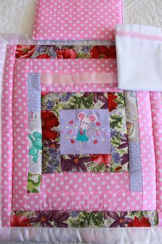 Doll's Quilt, sheet and Pillow Set www.teeteesdesigns.co.nz