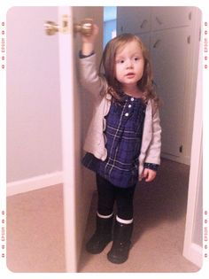 Leggings, tall socks with boots.. Flannel top. Probably my favorite Fall outfits for her.