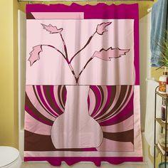 Minimalist Flowers I Shower Curtain
