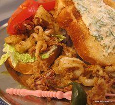 Calamari Sandwich with Smoky Yogurt Sauce:  How awesome is this??!!