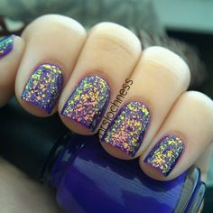 This is China Glaze Creative Fantasy with Essie SOTT on top! Love it! #essie #shineofthetimes - @mrslochness