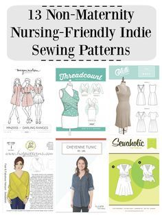 13 Non-Maternity Nursing-Friendly Indie Sewing Patterns // DIYmaternity.com