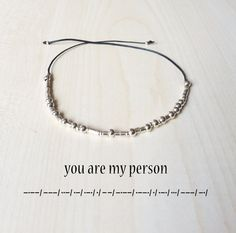 You are my person Morse Code Bracelet Morse code by GLIAJEWELRY