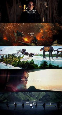 """""""I wish it need not have happened in my time."""" """"So do I, and so do all who live to see such times. But that is not for them to decide."""" #starwars"""