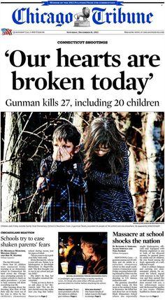 Tiroteo en Newtown, Connecticut - 14.12.12 (Chicago Tribune - EEUU - 15.12.12).