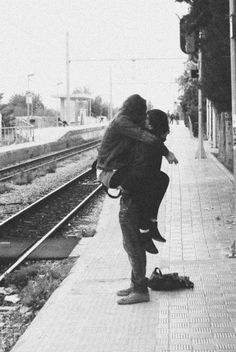 """From The Reverse Commute: """"When she got off the train, he give her a big hug, lifting her off the ground while he kissed her. He nuzzled his nose in her hair and said, """"Hmmm. You smell so nice."""" http://www.amazon.com/The-Reverse-Commute-ebook/dp/B009V544VQ/ref=sr_1_1_bnp_1_kin?ie=UTF8=1363559944=8-1=the+reverse+commute"""