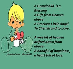 A grandchild is....