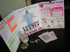 Primary Tri-Fold--Love this idea!  When teaching Primary get a science fair tri-fold poster.  Glue your class rules, Velcro prayer popsicle sticks (such a cute idea), and add anything else you might want.  She also uses a bean jar for reverence; I prefer adding skittles to individual paper cups for a reward system.