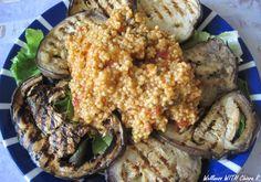 risotto di miglio su letto di lattuga e melanzane grigliate http://wellnesswithchiarar.blogspot.it/2015/06/una-settimana-pranzo-con-me-3.html