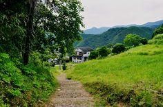 Pequeño camino entre Hosshinmon-oji y Hongu, en la milenaria ruta Kumano Kodo.