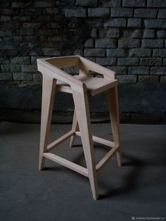 Buy Designer bar stool made of solid wood … - wood chair Easy Woodworking Projects, Woodworking Furniture, Plywood Furniture, Wood Projects, Diy Furniture, Furniture Design, Furniture Stores, Wooden Chair Plans, Chair Design Wooden