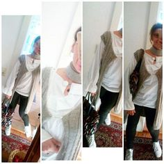 Tagesdress: Bluse, Weste und Halstuch von elbfeeberlin, Tasche Werkstatt San Gimignano, Jegging HM, Sneakers Reebok. Today's outfit: Blouse, vest, scarf by elbfeeberlin, bag workshop San Gimignano, jegging HM, sneakers Reebok. #elbfeeberlin #autumn #berlin #berlinblogger #berlinfashion #designer #Designerin #fall #fashion #fashionblogger #fashiondesigner #fashionofinstagram #herbst #knittersofinstagram #knittingaddict #nofilter #nofilterneeded #streetstyle #tbt #fashiondiary #ootd…