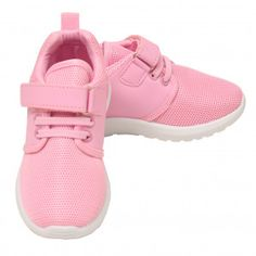 Anne Marie Girls Pink Hook-And-Loop Strap Lace-Up Closure Sneakers Kids New Arrival Dress, Comfortable Sneakers, 4 Kids, Dress Outfits, Dresses, Marie, Branding Design, Baby Shoes, Pink
