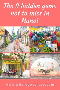 9 hidden gems in Hanoi including lesser known neighbourhoods, bars and attractions. These less touristy places in Hanoi are worth a visit! Visit Vietnam, North Vietnam, Hanoi Vietnam, Vietnam Travel Guide, Asia Travel, Travel Tips, Travel Packing, Cool Places To Visit, Places To Travel