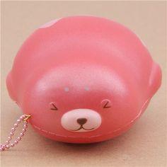 cute pink mochi seal animal scented squishy by Puni Maru 1
