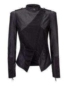 House Of Dereon Biker Jacket  LOVE Winter Coats Women, Coats For Women, Clothes For Women, Mom Outfits, Cute Outfits, Fashion Outfits, Men Fashion, Black Biker Jacket, Motorcycle Jacket