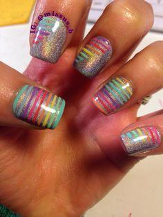 Rainbow Holo Nails