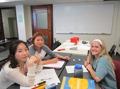 American TAMU students volunteer as Classroom Partners at the English Language Institute