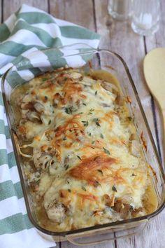 Easy Baked Chicken, Easy Chicken Dinner Recipes, Baked Chicken Recipes, Meat Recipes, Cooking Recipes, Chicken Ideas, French Onion Chicken, Mets, Onion Soup