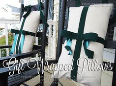 Blue Sky Confections: Gift Wrapped Pillows & Winter Wreath