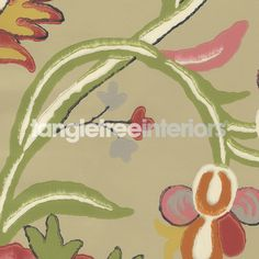 Cayman wallpaper from Thibaut - T4904 - Beige and Pink