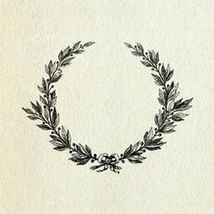Laurel wreath: traditional symbol of victory, recognition, and reward. Idea stolen from @ Taylor Woodford