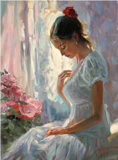 Pinky Painting Pinky Painting Gallery Of Artist Vladimir Volegov Portraits Of Very Beautiful Women Pinky Painting Woman Painting, Figure Painting, Painting & Drawing, Sun Painting, Garden Painting, Vladimir Volegov, Figurative Kunst, Beauty In Art, Fine Art