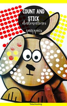 FREE printable counting and fine motor activity perfect for preschoolers! Put the correct number of spots on the dalmation dogs using stickers or dot markers. Makes a great preschool math center, or a pet theme. Toddler Activities, Activities For Kids, Do A Dot, Teaching Numbers, Preschool Math, Tot School, Worksheets For Kids, Math Lessons, Kids Learning