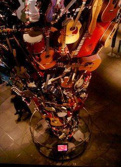 Musical guitar installation at the Experience Music Project in Seattle