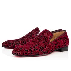 Men Shoes - Tudor Night Flat Velvet/veau Velours/gg Velvet - Christian Louboutin