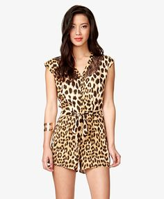 Leopard & Lace Romper | LOVE21.... Forever 21 ❤