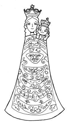 Dibujos para catequesis: Virgen María