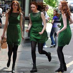 Karen Gillan in green