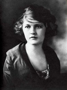 Zelda Fitzgerald at 17.    (1900-1948). Wife of F. Scott Fitzgerald, face of the Jazz Age, and the prototype that every flapper modeled themselves after.