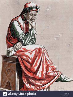 Esegui il download di questa immagine stock: Dante Alighieri (1265-1321). Poeta italiano. Incisione di Pannemaker. Colorati. - BR8Y9M dalla libreria Alamy di milioni di fotografie, illustrazioni e vettoriali stock ad alta risoluzione. Dante Alighieri, Poet