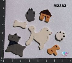 For Sale!! DOGGIES    Kiln Fired Handmade Ceramic by CrystalDMosaicDesign