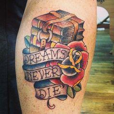 #tattoo #traditionaltattoo #booktattoo