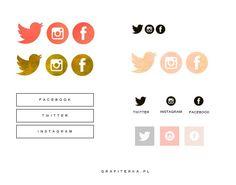 ikony na bloga facebook twitter instagram